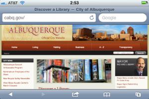City of Albuquerque Website