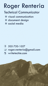 Roger Renteria - Business Card
