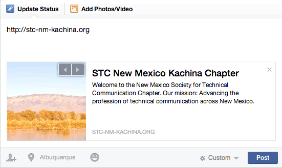 Facebook Preview Box: STC Kachina Chapter