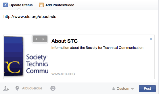 Facebook Preview Box: About STC