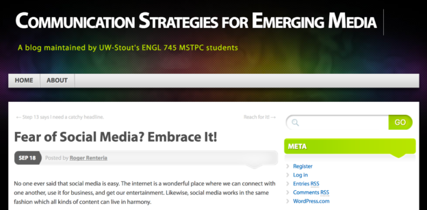MSTPC - Communication Strategies for Emerging Media